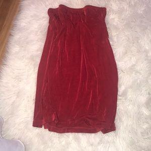 Chico's red skirt